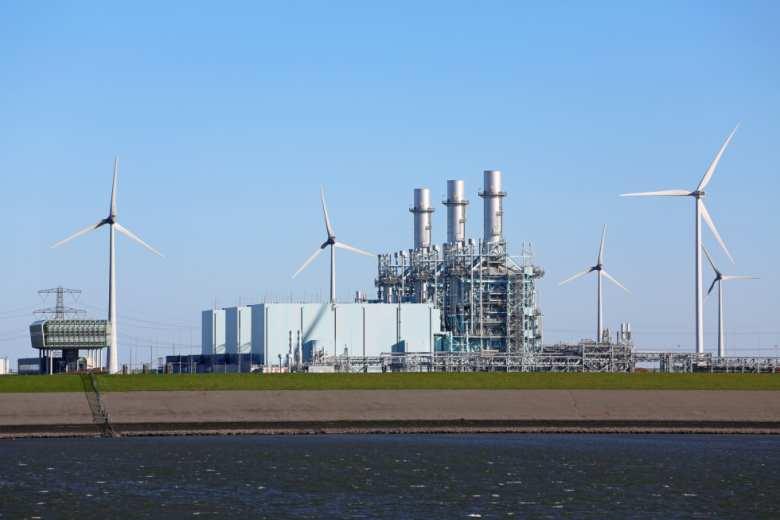Kraftwerk, Energie-Industrie, Windräder