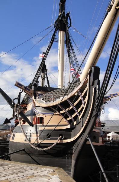 Lord Nelsons Flagschiff bei Trafalgar