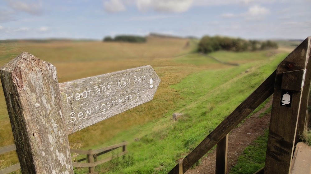 Wegweiser Hadrians's Wall