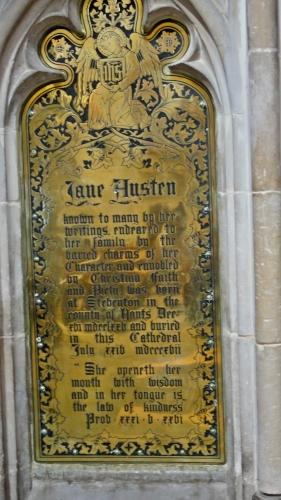 Jane Austen Gedenktafel